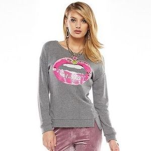 Juicy Couture Sequin Lips Pullover